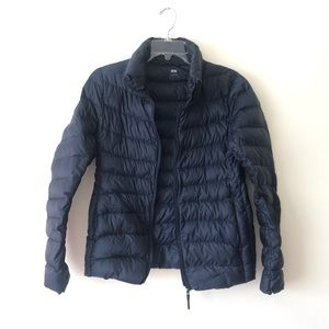 Uniqlo navy down puffer jacket